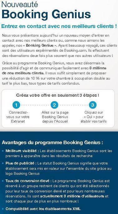 Booking Genius ou l'art de prendre les hôteliers pour des crétins | E-Tourisme Mobile | Scoop.it