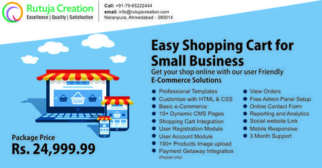 E-Commerce Website Design & Development in Just Rs. 24,999 | Web Design Company -  Indian best sites | Scoop.it