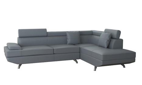 Canapé d'angle 5 places en simili cuir avec mousse à mémoire de forme | Ameublement | Scoop.it