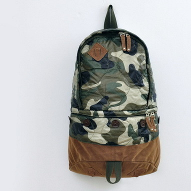 Classic camo canvas and suede backpack unisex from Vintage rugged canvas bags | personalized canvas messenger bags and backpack | Scoop.it