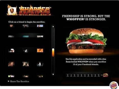 Burger King exclut de sa page Facebook les fans préférant McDonald's | Marques & Innovation marketing | Scoop.it