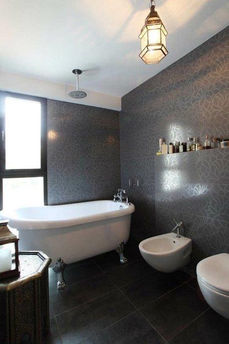 Salle de bain noir et blanc: une pièce élégante et moderne | Tendances Carrelage | Scoop.it