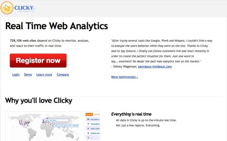 Web Analytics in Real Time | Clicky | Web design et bonnes pratiques | Scoop.it