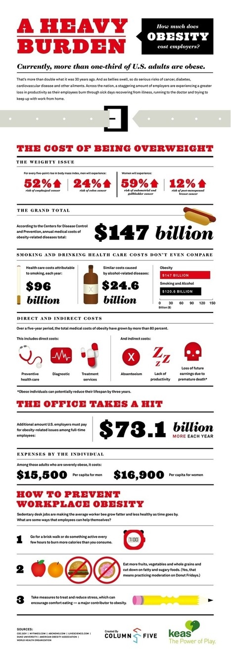 Are Obese Employees Killing Your Company? [INFOGRAPHIC] | Healthy Vision 2020 | Scoop.it