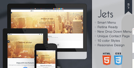 Jets – Responsive HTML5 Template (Business)   Site Templates Download   Scoop.it