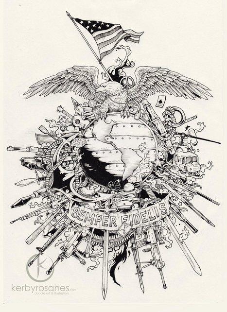 Les dessins à haute complexité de Kerby Rosanes   Reg'Art Metis   Scoop.it