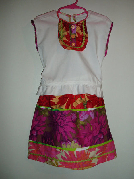 Pretty Handmade Girls Skirt and Sleeveless Blouse-Pink, Purple, Red, Green SIZE 4 | Kids Clothing | Scoop.it