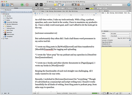 5 Reasons I Switched to Scrivener for All My Writing | Michael Hyatt | Journaling Writing Revising Publishing | Scoop.it