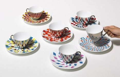 Geometric Designs Reflect on Plain Teacups in Delightful Illusion | Inspiration: Imagine. See the possibilities. | Scoop.it