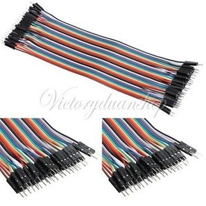 Male to Male Color Breadboard Cable Jump Wire Jumper For Arduino Shield 40pcs 20cm 2.54mm 1p 1p Pin Free Shipping-in Other Electronic Components | Raspberry Pi | Scoop.it