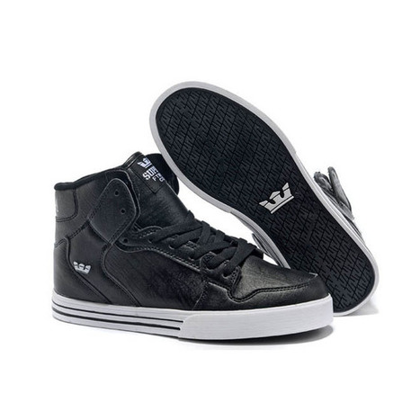 High Top Supra Vaider Men Black Perf Leather Shoes | want and share | Scoop.it
