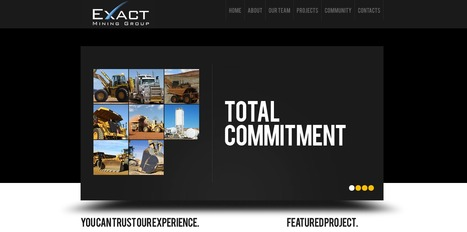 Exact Mining - CMS Website for Mining Industry | yPHPMySQL | Portfolio | Scoop.it
