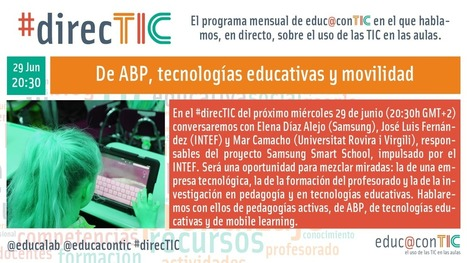 #direcTIC: de ABP, tecnologías educativas y movilidad | Blog de INTEF | Educacion, ecologia y TIC | Scoop.it