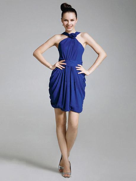Sheath/Column Straps Chiffon Short/Mini Sleeveless Pleats Evening Dresses at sweetquinceaneradress.com | SWEET 16 DRESSES | Scoop.it