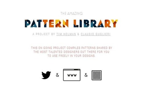 The Pattern Library by the Most Talented Designers | Web Resources | WebAppers | Webdesign - Web developpement | Scoop.it