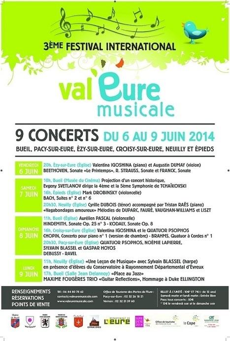 Festival Val'Eure 2014 du 6 au 9 juin - Accueil - eureasso.fr | Eureasso.fr | Scoop.it