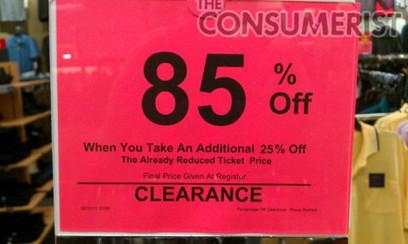 At Kohl's, 60% Off Then 25% Off Means 85% Off | Enrique Inchaurregui | Scoop.it