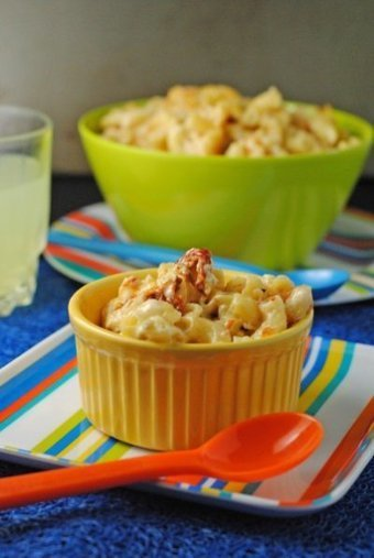 Red, White, & Bleu Mac 'N Cheese ~ 4th of July #HolidayFoodParty! | Juanita's Cocina | Fourth of July Food | Scoop.it