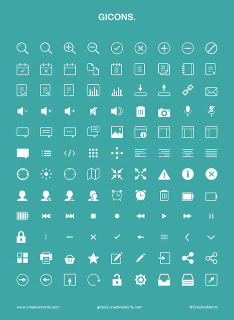 10 Free Icon Packs Each Containing Over 100 Icons | Veille et ressources webdesign | Scoop.it