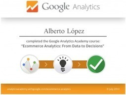 ¿Conoces Google Analytics Academy y sus certificados? | Learning analytic | Scoop.it