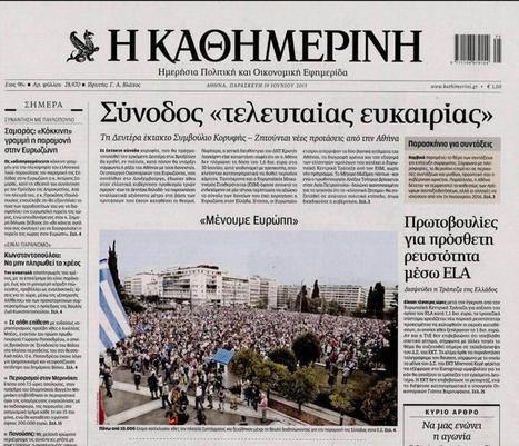 Crise grecque : pourquoi les négociations ont échoué | Union Européenne, une construction dans la tourmente | Scoop.it