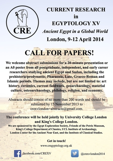 Call for Papers for CRE XV 2014 - Current Research in Egyptology | Research Capacity-Building in Africa | Scoop.it