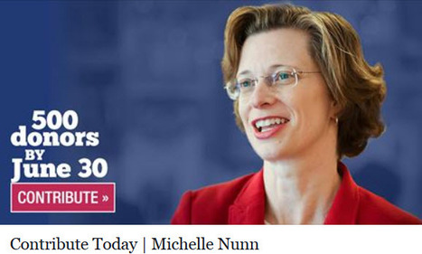 """""""500 Donors By June 30th""""   Michelle Nunn for Senate   06/27/14   Politics From My Point Of View   Scoop.it"""