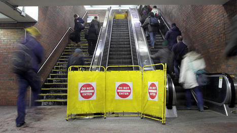 Escalator sucks in commuter's pants | Quite Interesting News | Scoop.it