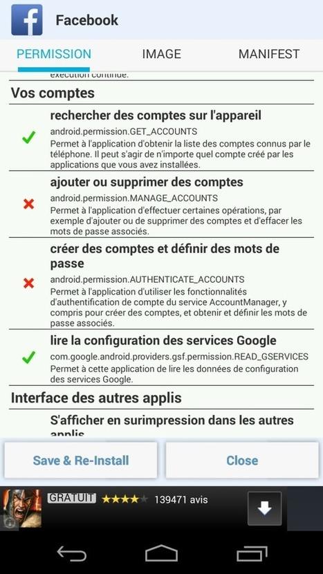 Applications Android - Comment retirer des permissions ? - Korben | Veille Infosec | Scoop.it