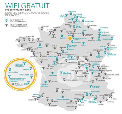 Le WiFi se démocratise dans les gares de la SNCF | Libertés Numériques | Scoop.it
