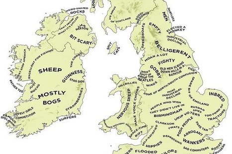 The Definitive Stereotype Map Of Britain And Ireland | Geomatics, GIS and the beauty of maps | Scoop.it
