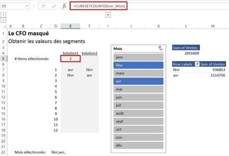 Récupérer la valeur d'un segment (slicer) dans Excel | Intelligence d'affaires | Scoop.it