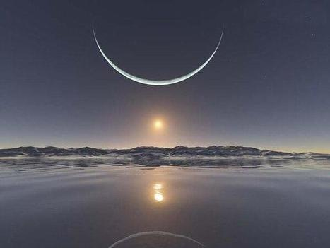 Mind Blowing Fact and Pictures : Sunrise With the Moon | Pics & Photographs | Scoop.it