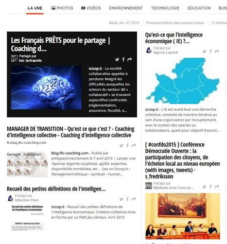 LE JOURNAL DU MOIS DE L'INTELLIGENCE COLLECTIVE ET COLLABORATIVE - Coaching d'intelligence collective | Coaching de l'Intelligence et de la conscience collective | Scoop.it