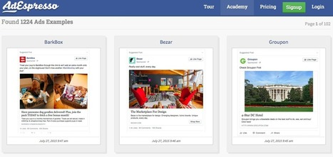 Facebook Marketing Partner AdEspresso Launches Facebook Ads Gallery | MarketingHits | Scoop.it