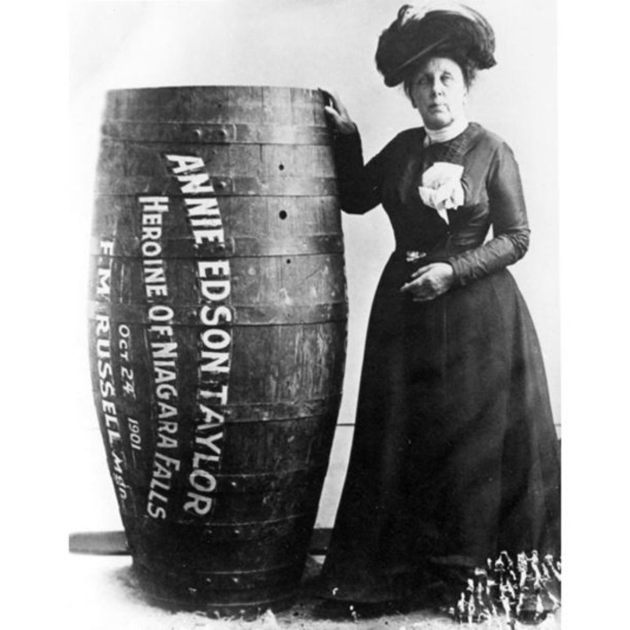 Annie Edson Taylor, the 1st person to go over Niagara Falls in a barrel & live to tell the tale | Herstory | Scoop.it