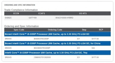 Intel Core i5-3350P Discontinuation Notice Arrives – Future of CPUS without On-Chip GPU In Question | Info-Pc | Hardware | Scoop.it