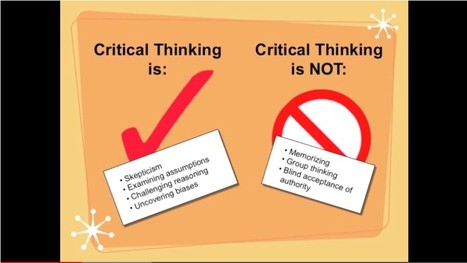 Thinking Critically | Learning Commons [Video] | Better teaching, more learning | Scoop.it