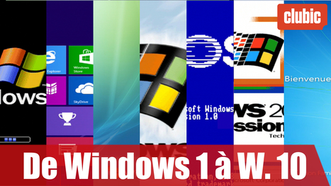 De Windows 1 à Windows 10 : 30 ans d'évolution en 10 minutes ! (Vidéo) | Seniors | Scoop.it