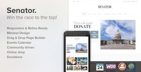 Senator: Responsive Political WordPress Theme - WordpressThemeDB | WordpressThemeDatabase | Scoop.it