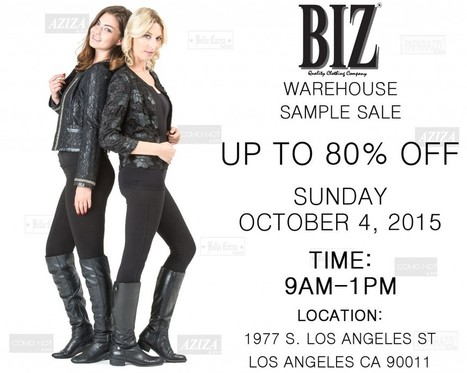 BIZ Warehouse Sale - 80% Off- Oct. 4th | Best of the Los Angeles Fashion | Scoop.it