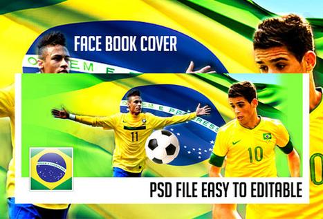 Brazil Facebook Cover psd template | artgrap.com | Artwork, Graphic & Illustration | Scoop.it
