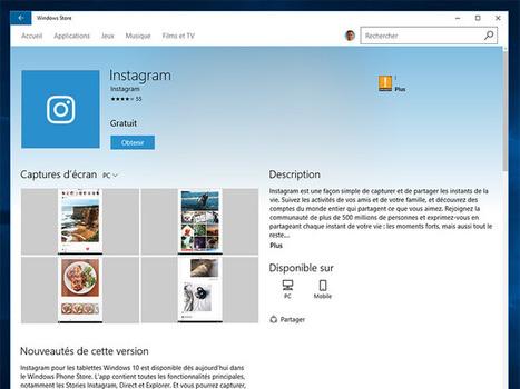 Instagram : une application pour les PC Windows 10 à télécharger - CNET France | Smartphones et réseaux sociaux | Scoop.it