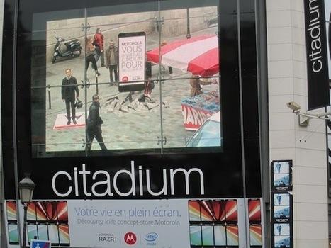 France : L'écran géant du Citadium accueille pour Motorola sa première campagne de réalité augmentée | E-commerce, M-commerce : digital revolution | Scoop.it