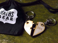 Amicable Numbers pair of keyrings – Nerd Romance | Amicable Number | Scoop.it