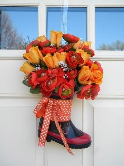 DIY Spring Rain Boot Front Door Decor | DIY Craft Ideas For The Home | Scoop.it