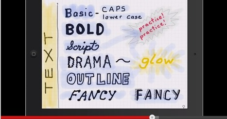 Excellent Video Tutorials to Help You Sketchnote on iPad ~ Educational Technology and Mobile Learning | iEduc | Scoop.it