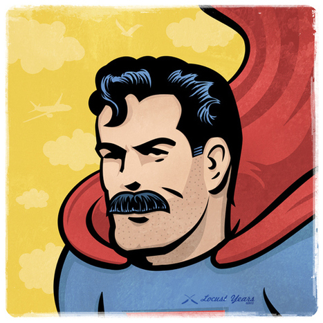 Et si les superhéros avaient eu des moustaches? | Yumington Magazine | Scoop.it