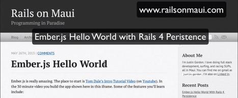 Ember.js Tutorial with Rails 4 | Good stuff online | Scoop.it