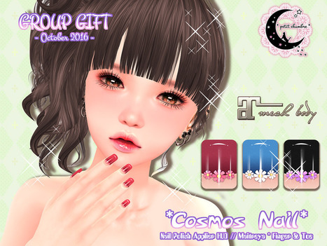 (pc) Cosmos Nail // Group Gift[Oct2016] | 亗 Second Life Freebies Addiction & More 亗 | Scoop.it